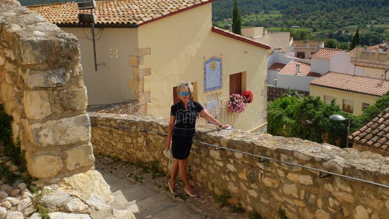 Замок Санты Creu de Calafel стоковое фото rf