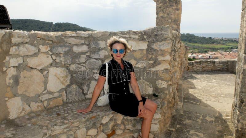 Замок Санты Creu de Calafel стоковая фотография rf