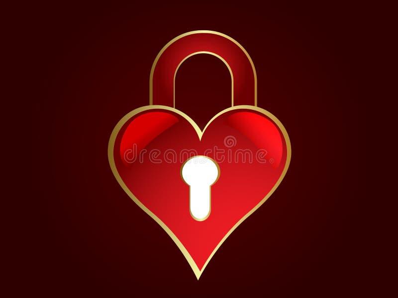 замок сердца сформировал иллюстрация штока