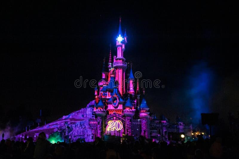 Замок сказки в Франции стоковое изображение