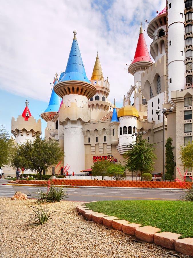 Замок сказки, Лас-Вегас, Невада стоковые фотографии rf