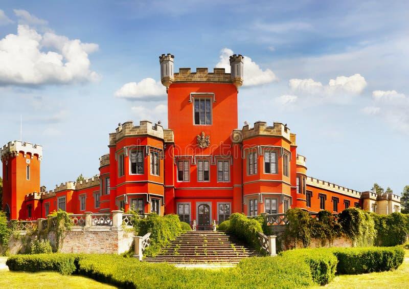 Замок сказки, чехия стоковые фотографии rf