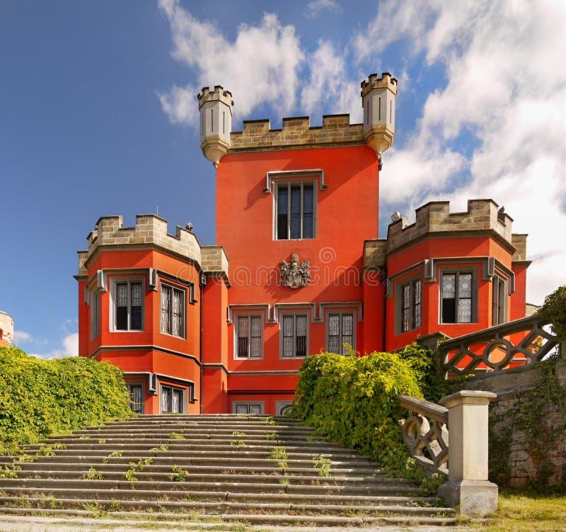 Замок сказки, чехия стоковая фотография
