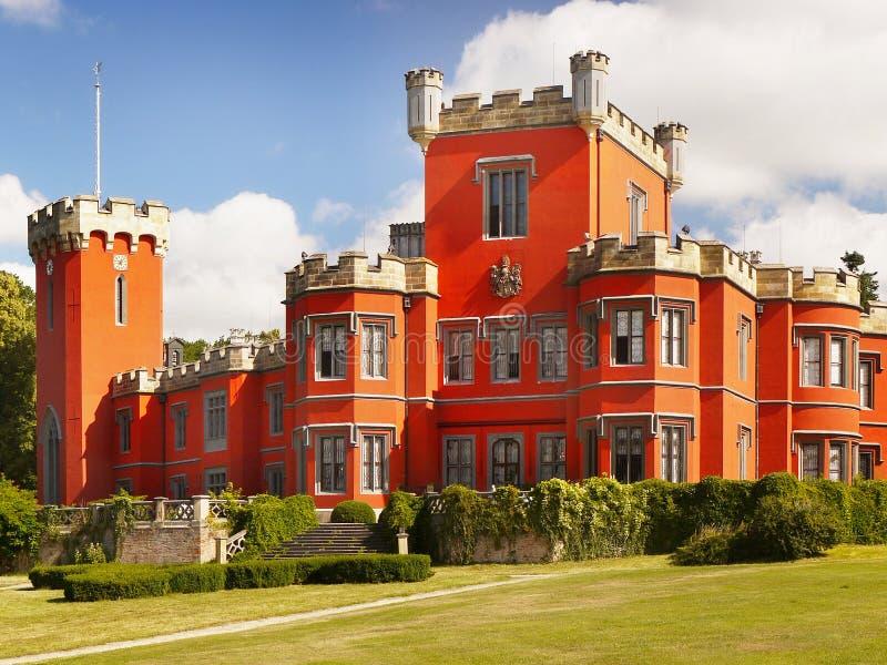 Замок сказки, чехия стоковое изображение