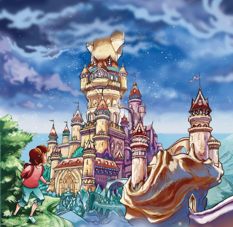 Замок сказки стоковые изображения
