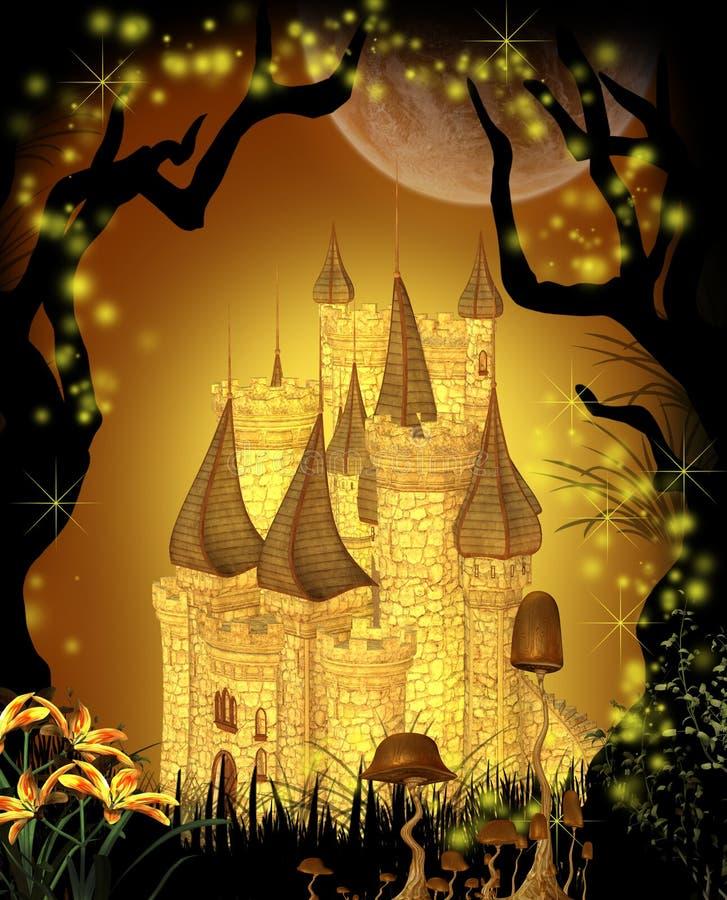 Замок сказки бесплатная иллюстрация