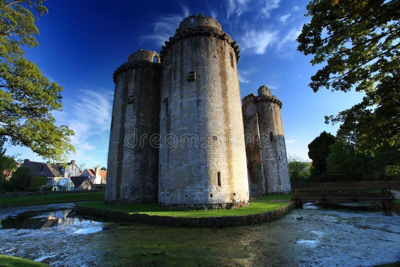 Замок Сомерсет Nunney стоковые фотографии rf