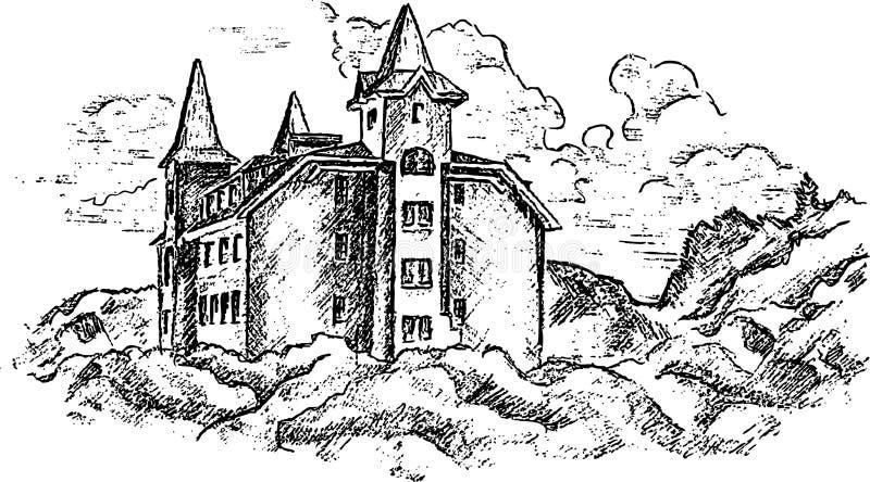 Download замок старый иллюстрация вектора. иллюстрации насчитывающей небо - 6864875