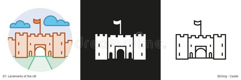Замок Стерлинга иллюстрация вектора