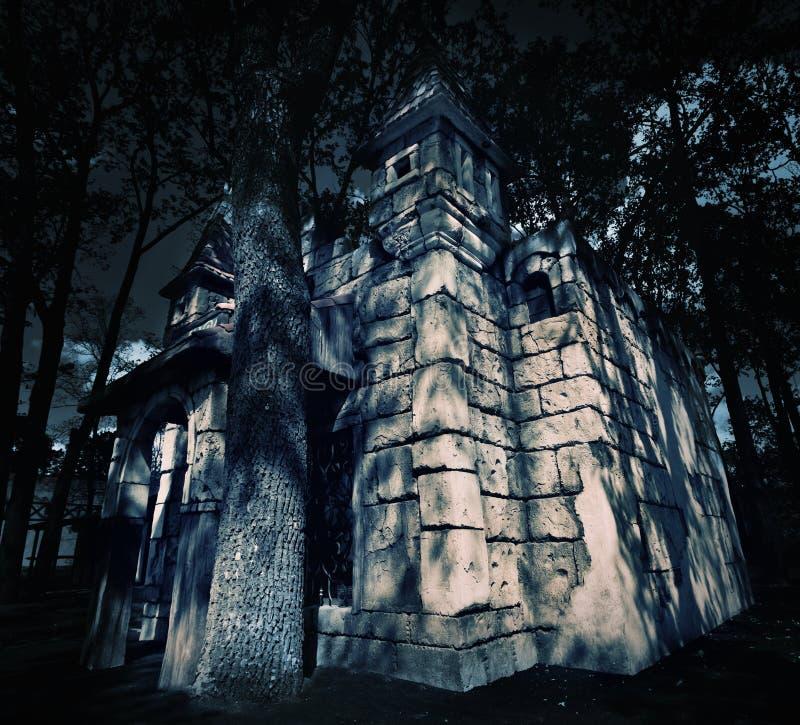 Замок тайны средневековый стоковая фотография