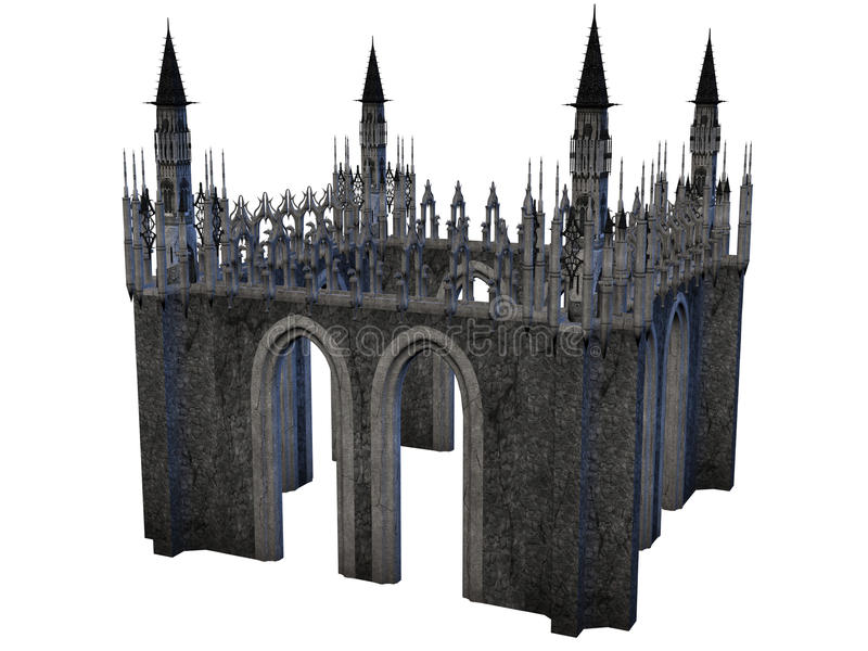 Замок фантазии иллюстрация штока