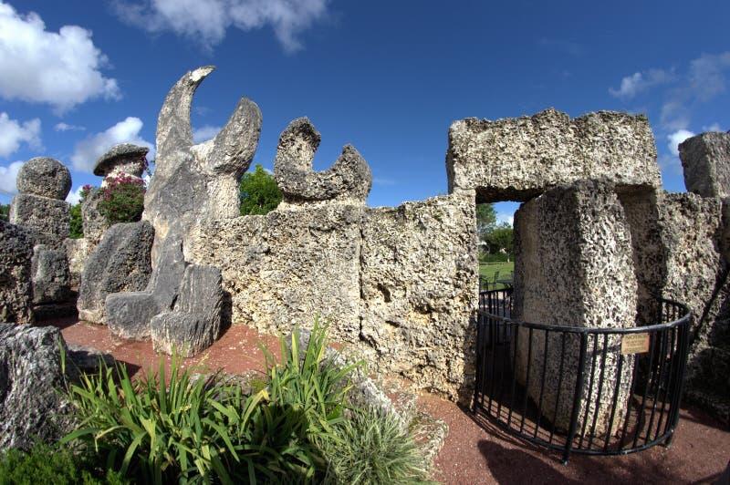 Замок Флорида коралла стоковые фотографии rf