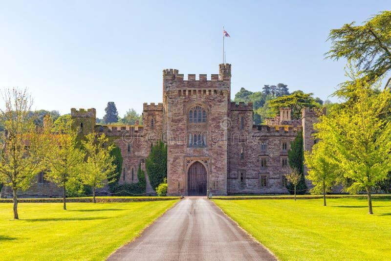 Замок Хэмптона Корта, Herefordshire, Англия стоковые изображения rf
