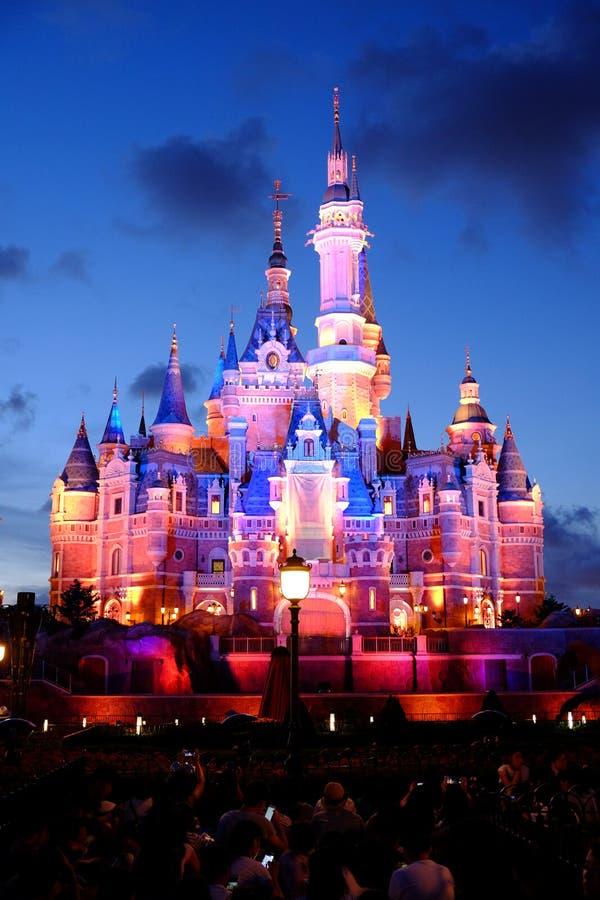 Замок Шанхая Дисней стоковое изображение rf
