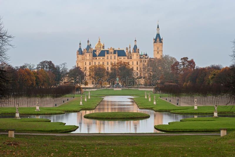 Замок Шверина, Германия стоковая фотография rf