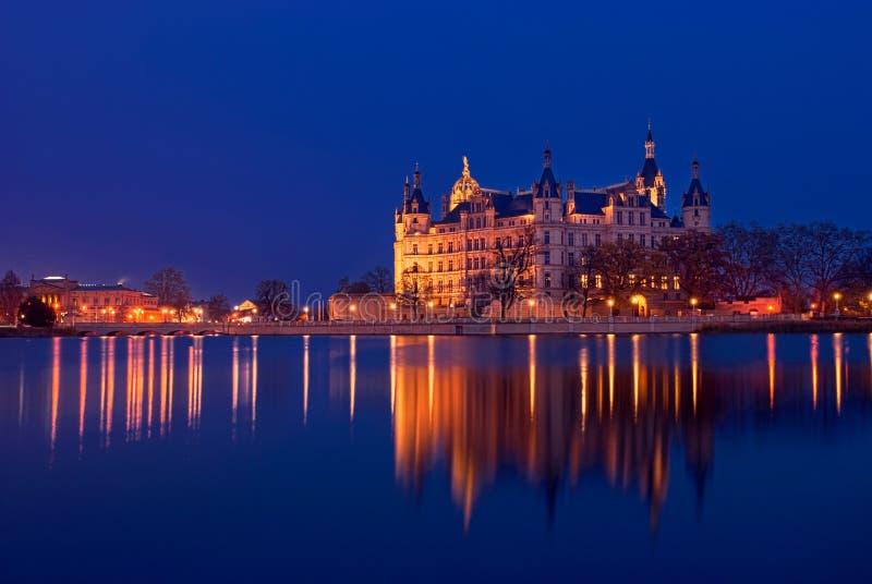Замок Шверина, Германия стоковое фото rf