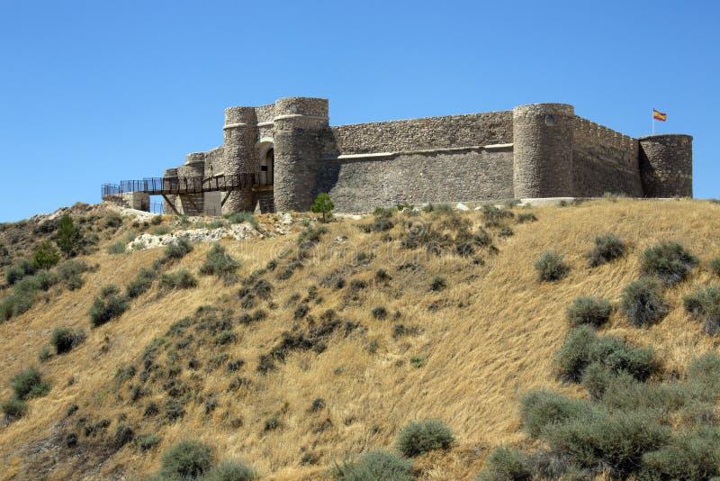 Замок Шиншиллы de Monte Аргона - Испания стоковые изображения rf