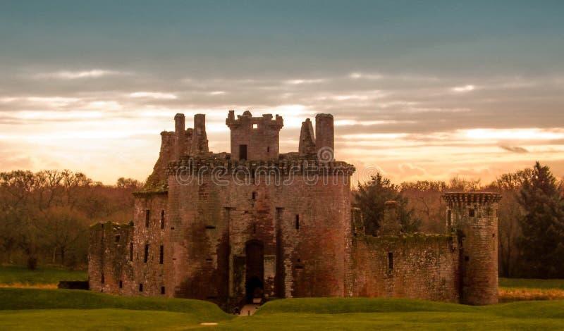 Замок Шотландия Caerlaverock стоковые изображения rf