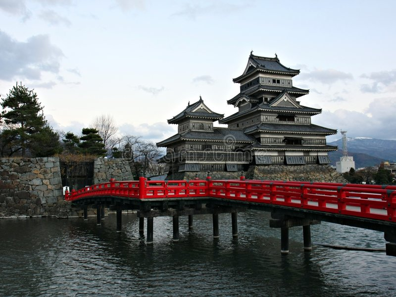 замок япония matsumoto стоковые изображения rf