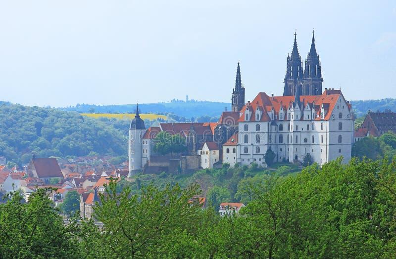 Замок Albrechtsburg Meissen, Саксония, Германия стоковые фото