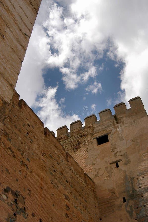 замок alhambra стоковые изображения rf