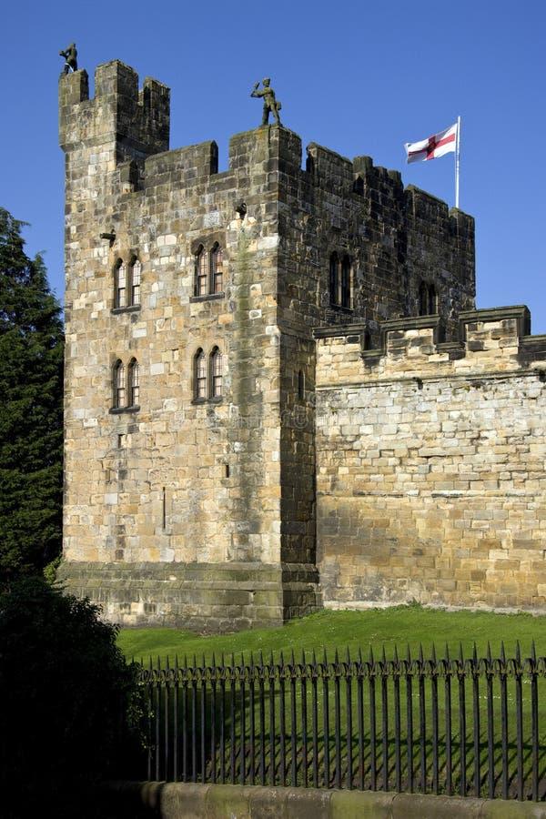 Замок Alnwick - Northumberland - Англия стоковая фотография rf