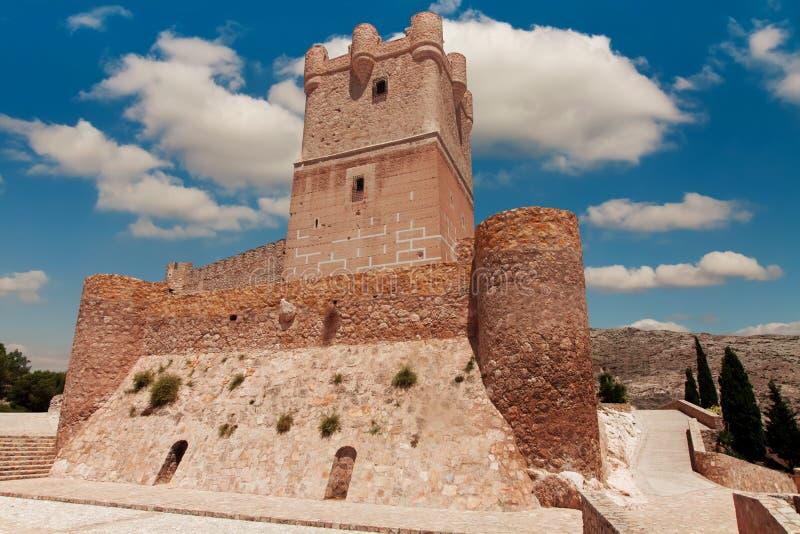 Замок Atalaya в Villena, Испании стоковые изображения rf