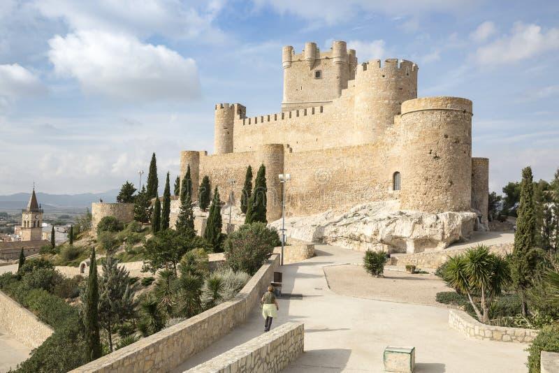 Замок Atalaya Ла в городе Villena, провинции Аликанте, Испании стоковые изображения
