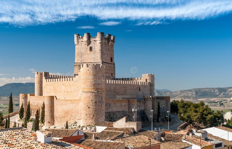 Замок Atalaya, Villena стоковые фотографии rf