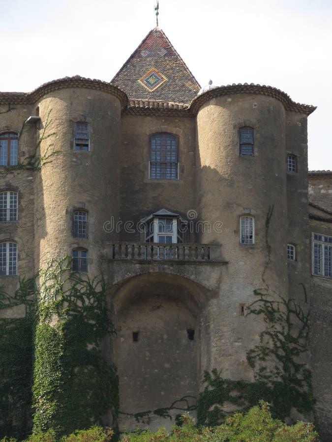 Замок Aubenas, Ardeche, Провансаль, Франция стоковые фотографии rf