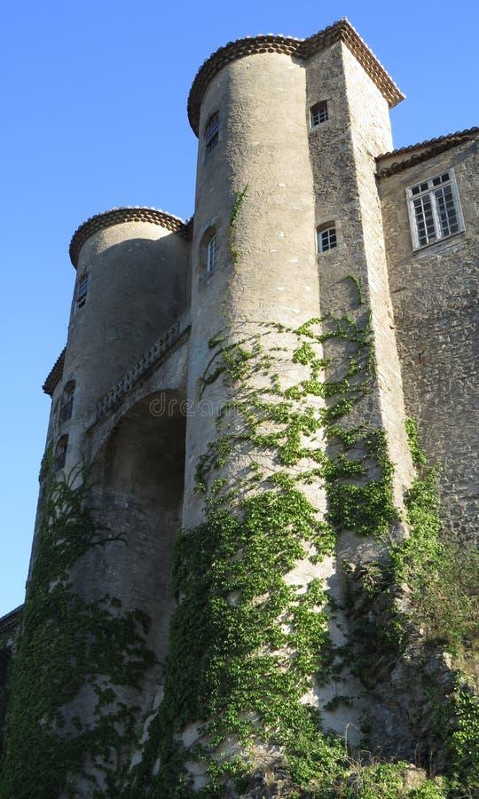 Замок Aubenas, Ardeche, Провансаль, Франция стоковые фото