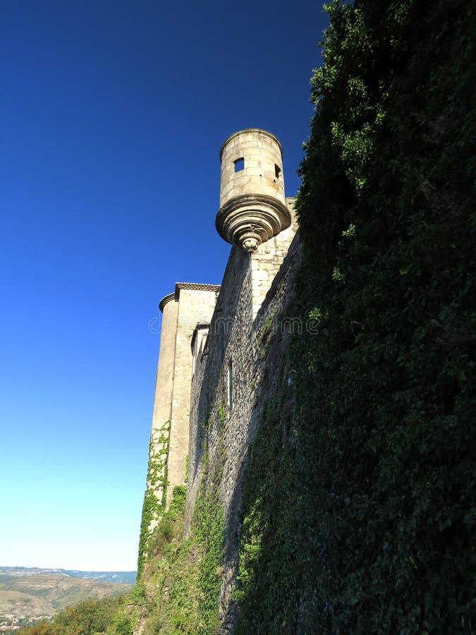 Замок Aubenas, Ardeche, Провансаль, Франция стоковое фото
