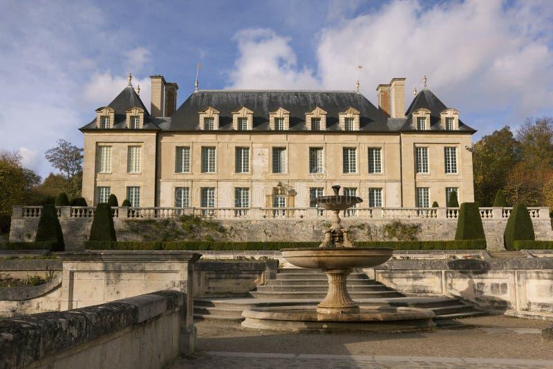 Замок Auvers-sur-Oise стоковое изображение rf