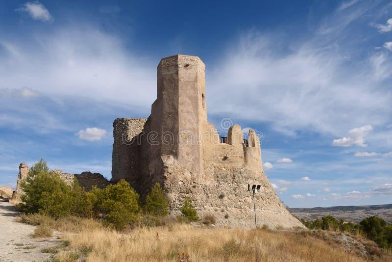 Замок Ayab в провинция Calatayud, Сарагосе, Арагон, Испания стоковые изображения rf