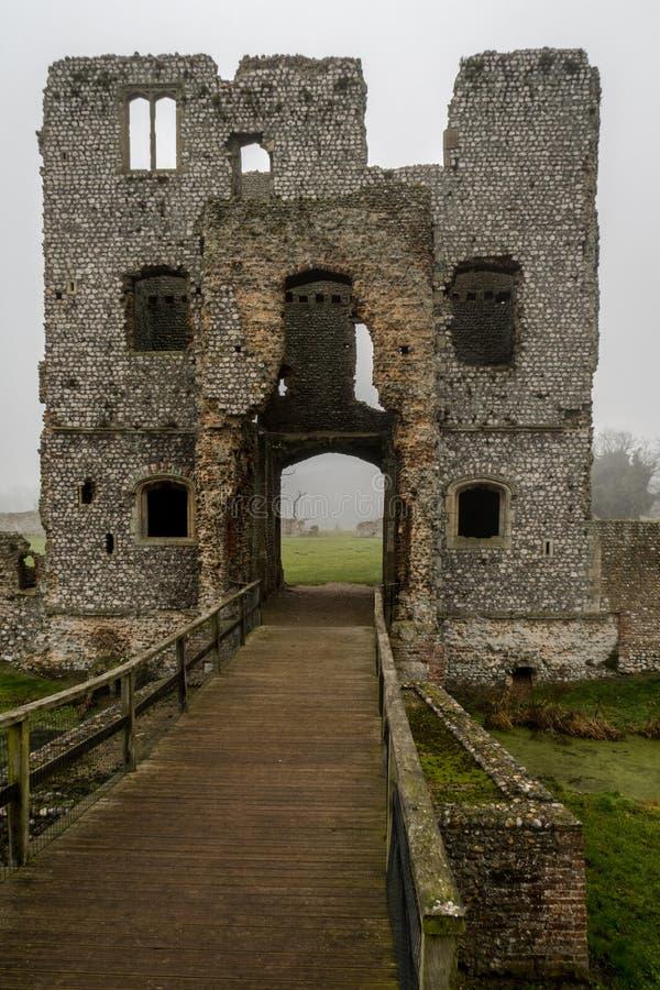 Замок Baconsthorpe, Норфолк, Англия стоковое изображение