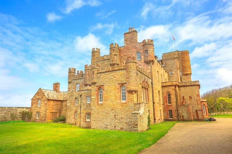 Замок Barrogill Mey стоковые фотографии rf