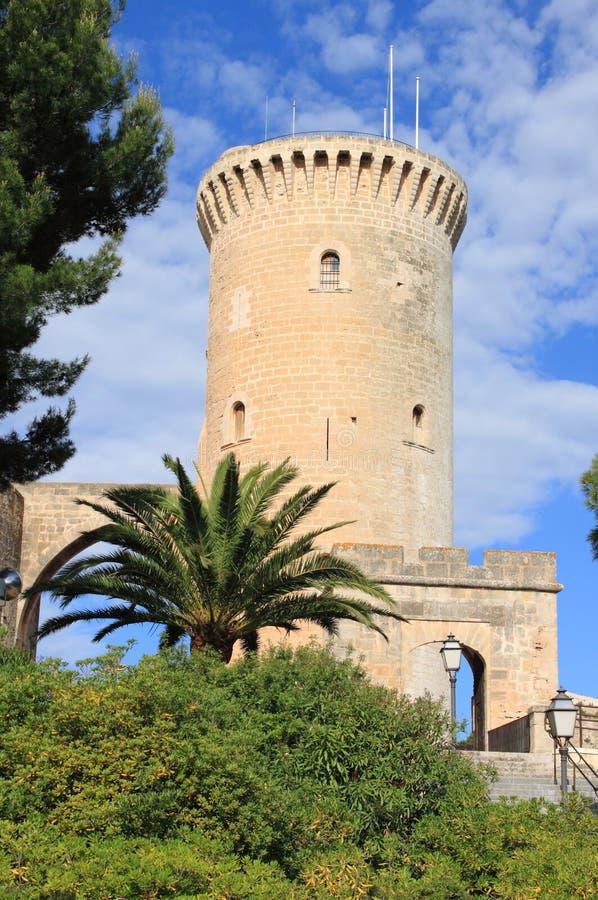 Замок Bellver в Palma de Mallorca стоковая фотография rf