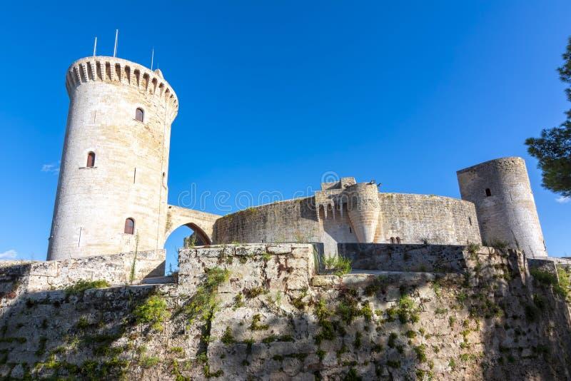 Замок Bellver, Мальорка, Балеарские острова, Испания стоковое изображение