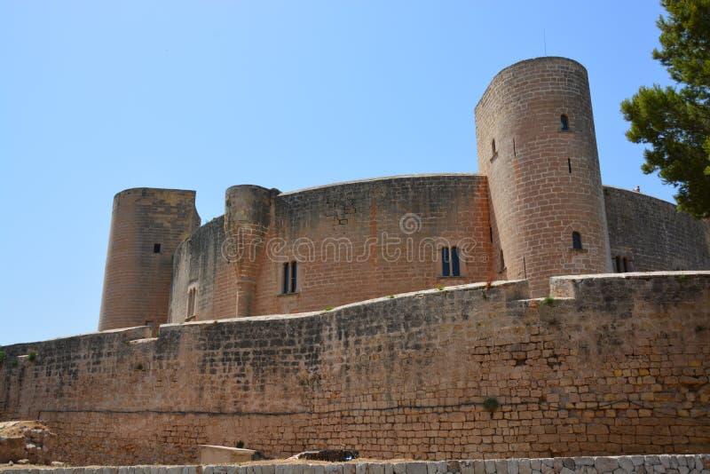 Замок Bellver, (человеческий замок de Bellver) Майорка, Испания стоковые изображения rf