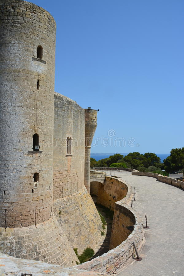 Замок Bellver, (человеческий замок de Bellver) Майорка, Испания стоковая фотография