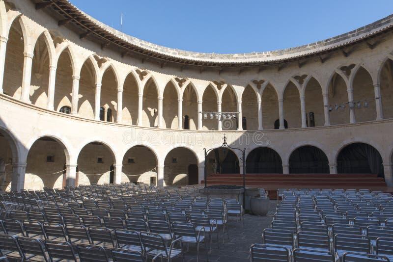 Замок Bellver, Palma de Mallorca стоковые изображения rf