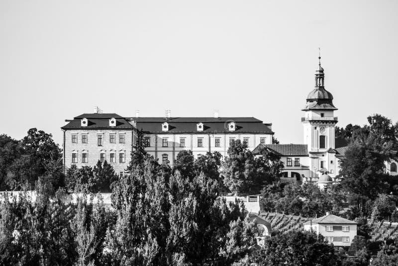 Замок Benatky nad Jizerou в центральной Богемии, чехии стоковое фото
