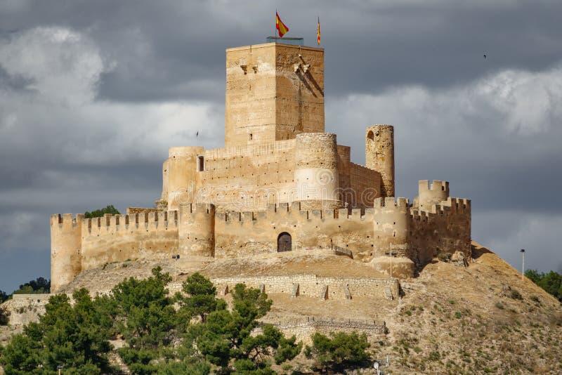 Замок Biar наверху холма, Аликанте, Испании стоковое фото rf
