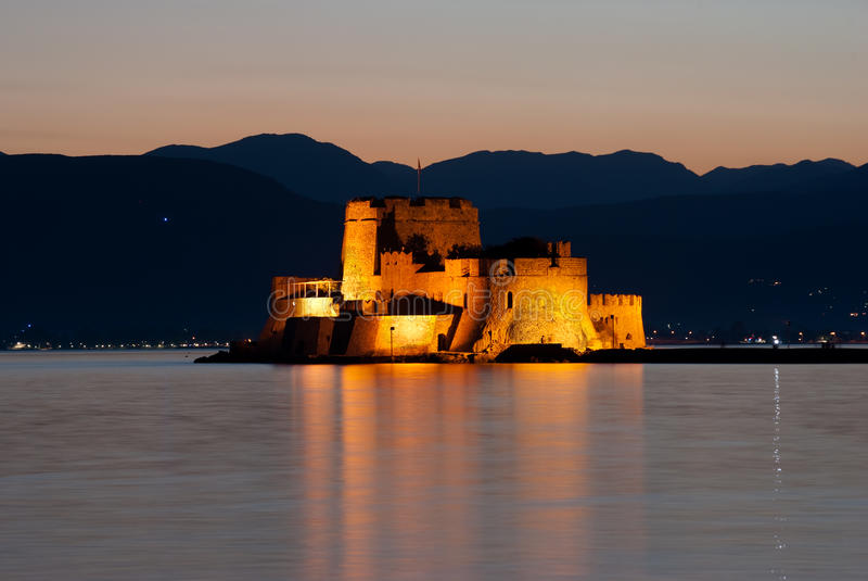 замок bourtzi стоковые фотографии rf