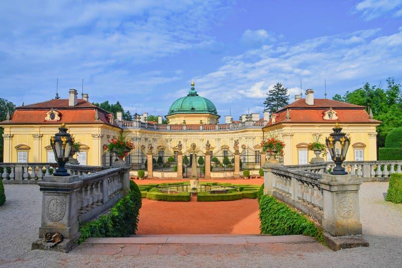 Замок Buchlovice конструирован в итальянском стиле барокко Зона южная Моравия, чехия стоковые фотографии rf