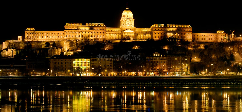 замок budapest королевский стоковые изображения