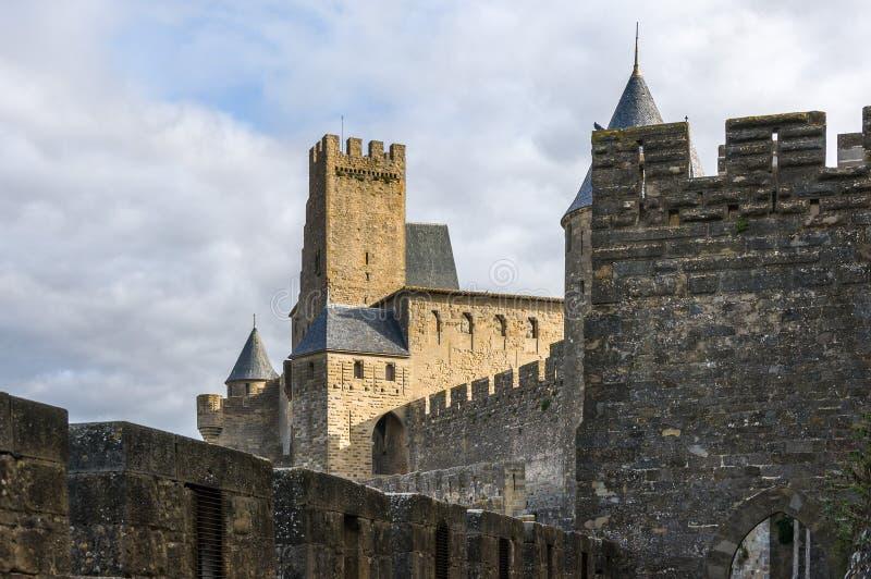 Замок Carcassone стоковое фото rf