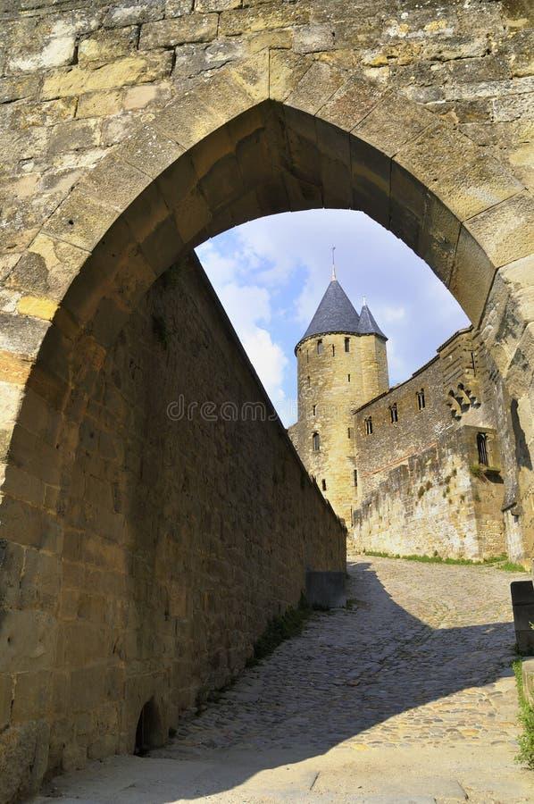 Замок Carcassonne стоковые изображения