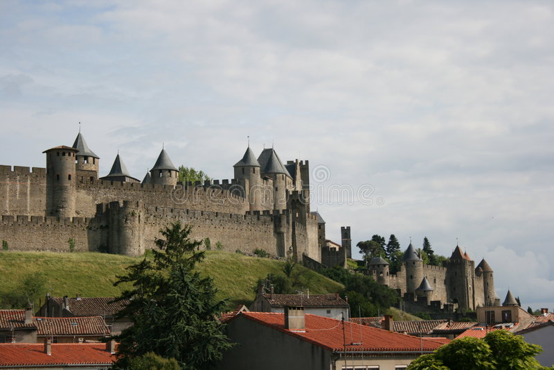 замок carcassonne стоковая фотография