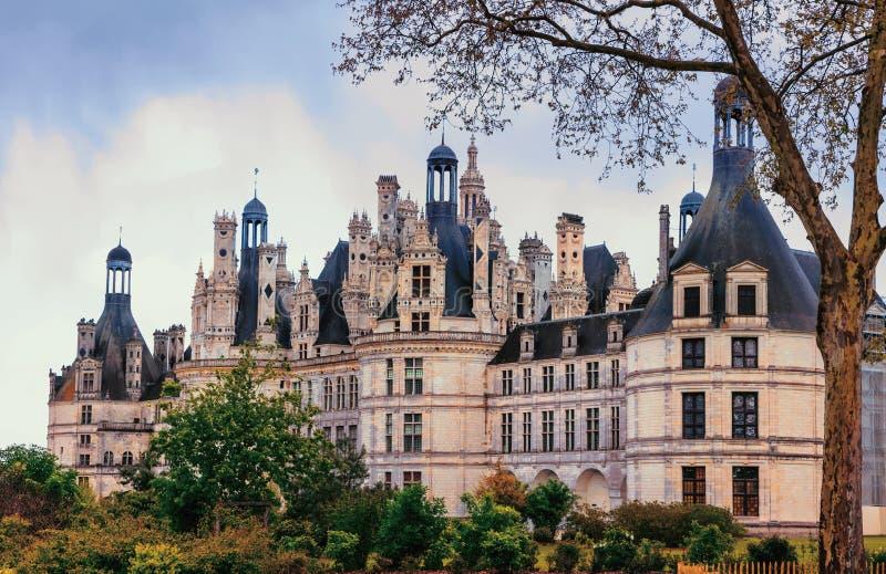 Замок Chambord - шедевр архитектуры ренессанса Famo стоковое изображение rf